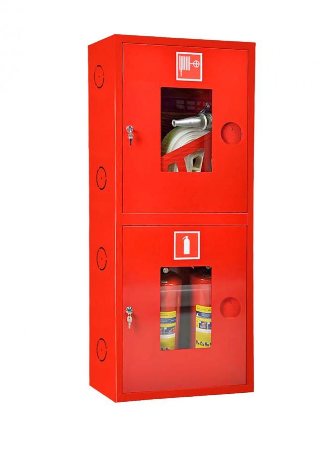 Шкаф для пожарного крана Ш-ПК-О-003-12 (навесной,открытый,красный) (ШПК 320 НОК-12)