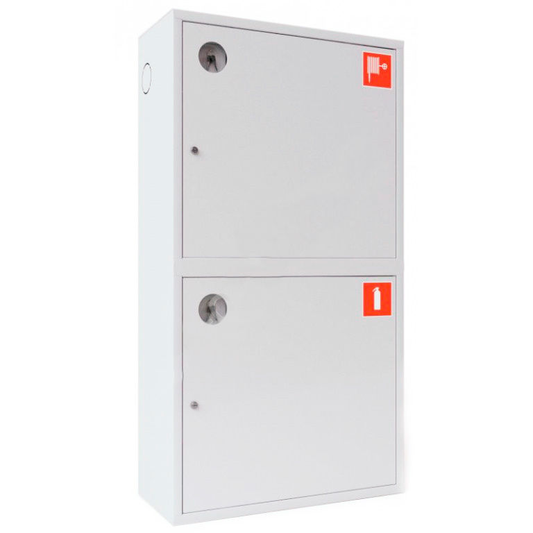 Шкаф для пожарного крана Ш-ПК-О-003-12 (навесной,закрытый,белый) (ШПК 320 НЗБ-12)