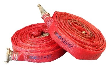 Рукав пожарный напорный РПМ(Д)-65-1,6-ТУ1 в сборе с головкой ГР-65 и стволом РС-70.01 (длина 20м)