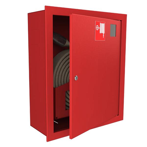 Шкаф для пожарного крана Ш-ПК-001 (встроенный,закрытый,красный) (ШПК 310 ВЗК)
