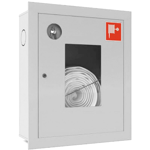 Шкаф для пожарного крана Ш-ПК-001 (встроенный,открытый,белый) (ШПК 310 ВОБ)