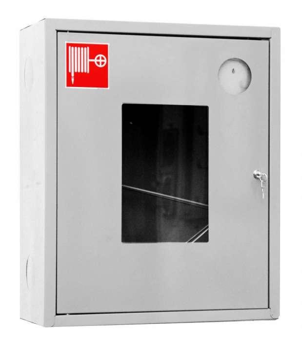 Шкаф для пожарного крана Ш-ПК-001 (навесной,открытый,белый) (ШПК 310 НОБ)