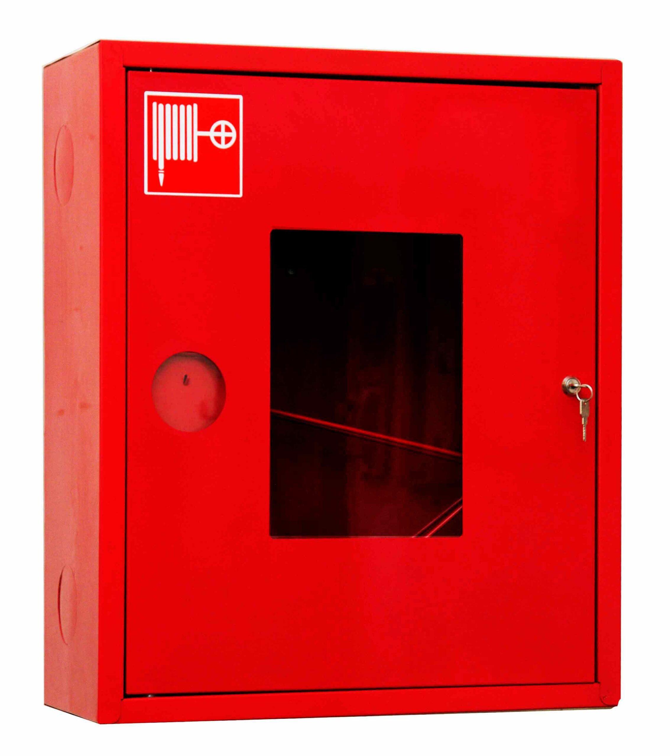 Шкаф для пожарного крана Ш-ПК-001 (навесной,открытый,красный) (ШПК 310 НОК)