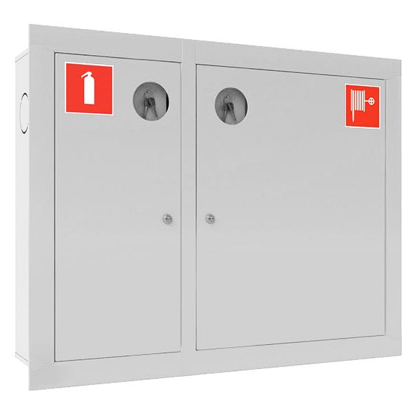 Шкаф для пожарного крана Ш-ПК-002 (встроенный,закрытый,белый) (ШПК 315 ВЗБ)