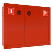 Шкаф для пожарного крана Ш-ПК-002 (встроенный,закрытый,красный) (ШПК 315 ВЗК)