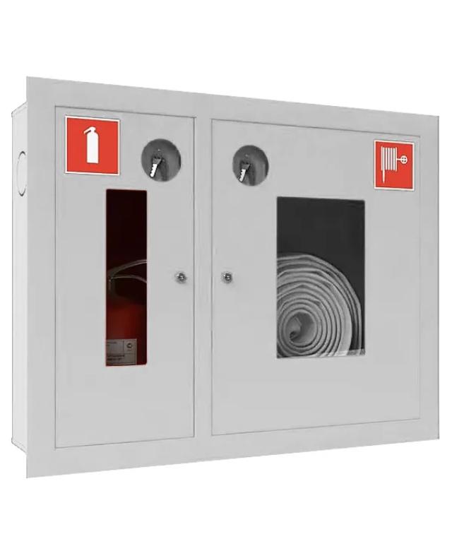 Шкаф для пожарного крана Ш-ПК-002 (встроенный,открытый,белый) (ШПК 315 ВОБ)