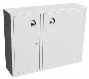 Шкаф для пожарного крана Ш-ПК-002  (навесной,закрытый,белый) (ШПК 315 НЗБ)