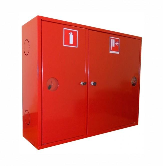 Шкаф для пожарного крана Ш-ПК-002 (навесной,закрытый,красный) (ШПК 315 НЗК)