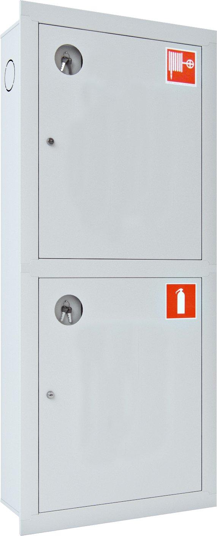 Шкаф для пожарного крана Ш-ПК-003 (встроенный,закрытый,белый) (ШПК 320 ВЗБ)