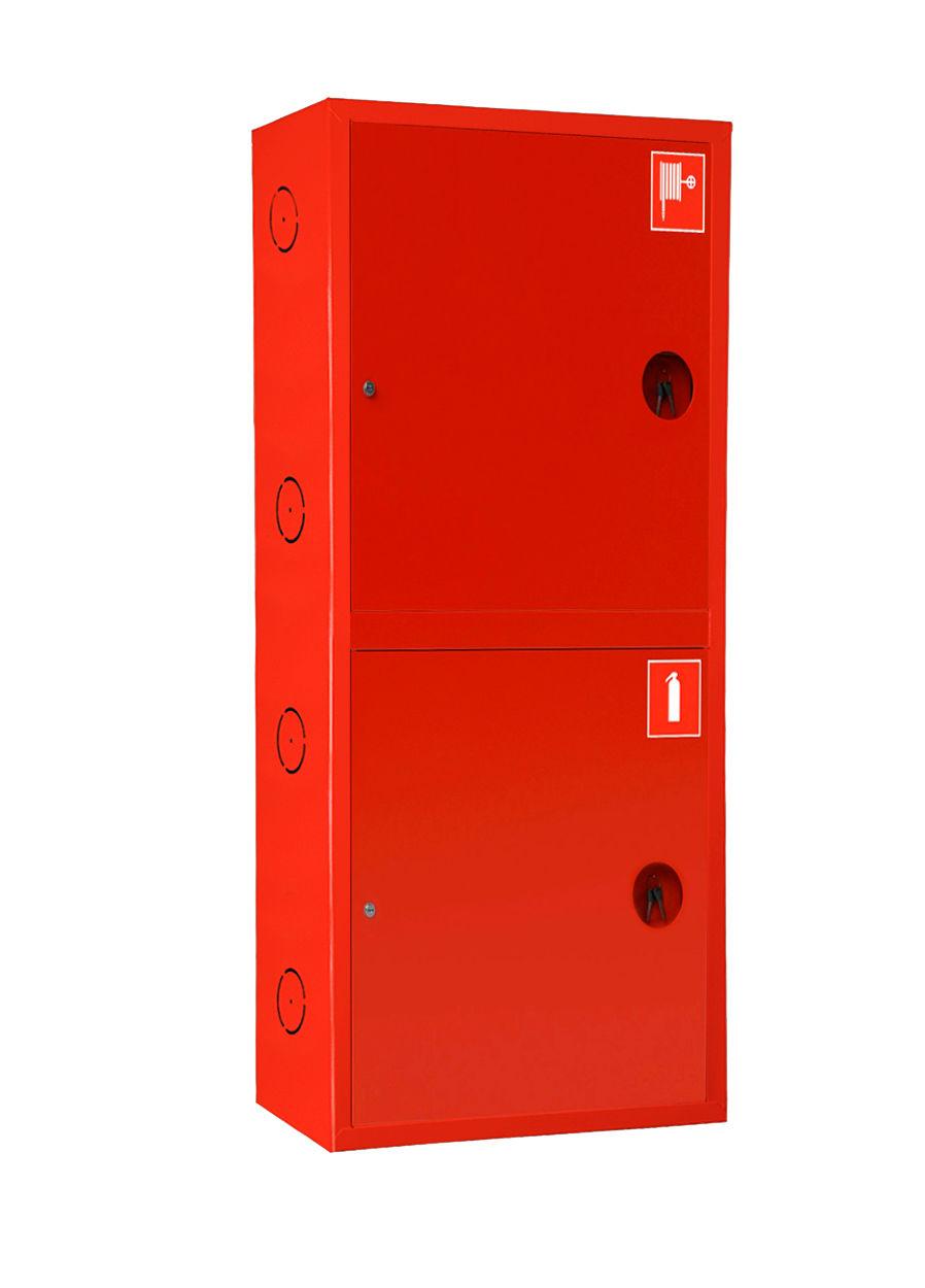 Шкаф для пожарного крана Ш-ПК-О-003-12 (навесной,закрытый,красный) (ШПК 320 НЗК-12)