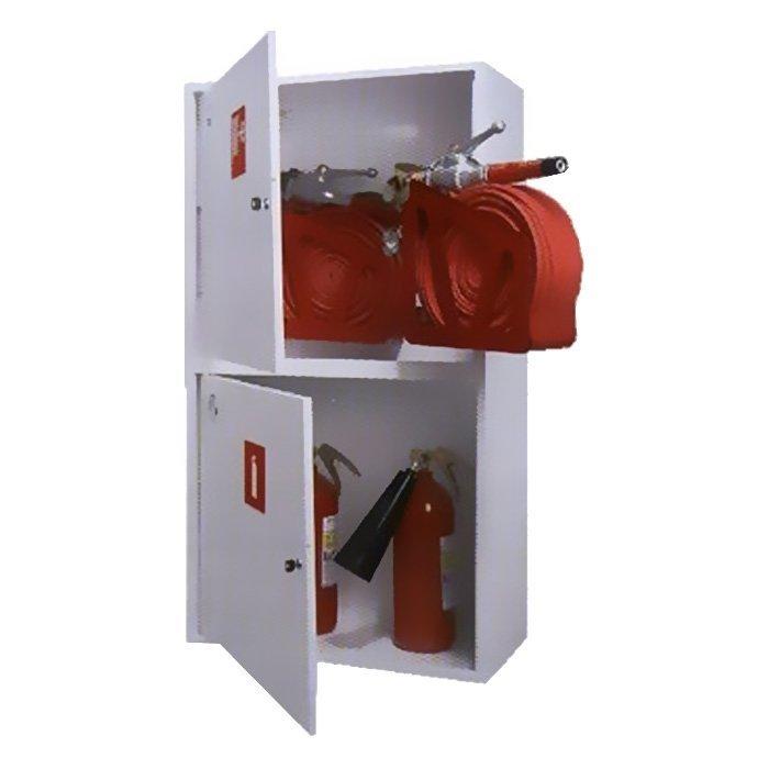 Шкаф для двух пожарных рукавов Ш-ПК-003-21 (навесной,закрытый,белый) (ШПК 320 НЗБ -21)