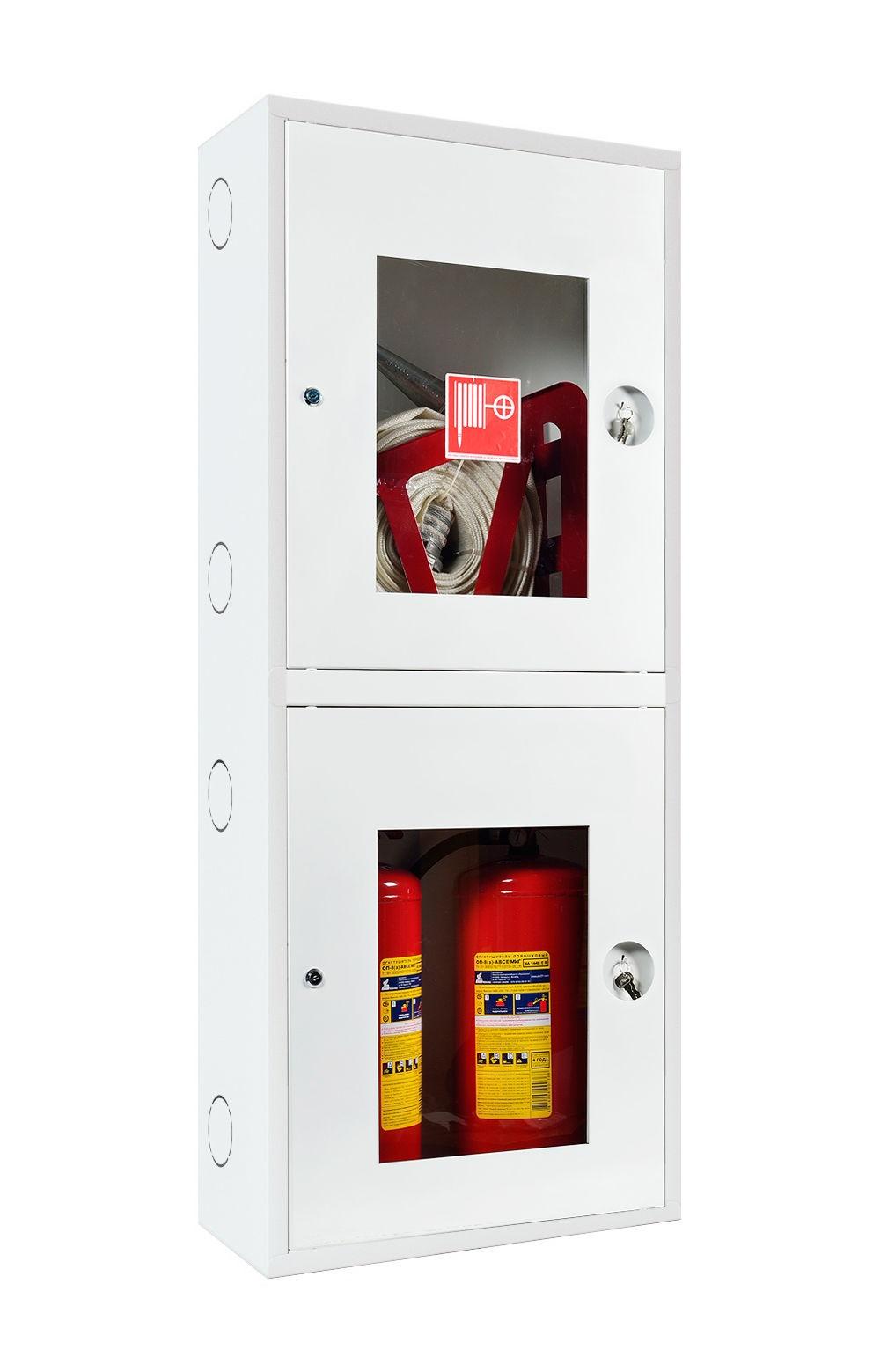 Шкаф для пожарного крана Ш-ПК-О-003-12 (навесной,открытый,белый) (ШПК 320 НОБ-12)